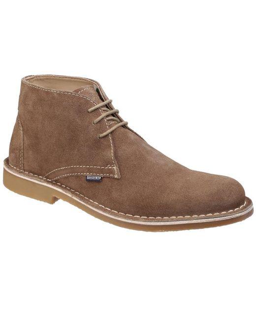Lambretta | Natural Carnaby 2 Mens Suede Desert Boots for Men | Lyst