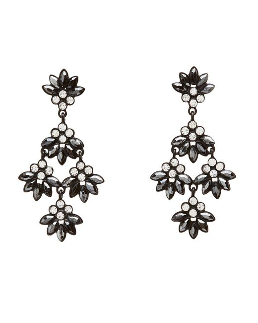 Charlotte Russe - Metallic Rhinestone Drop Earrings - Lyst