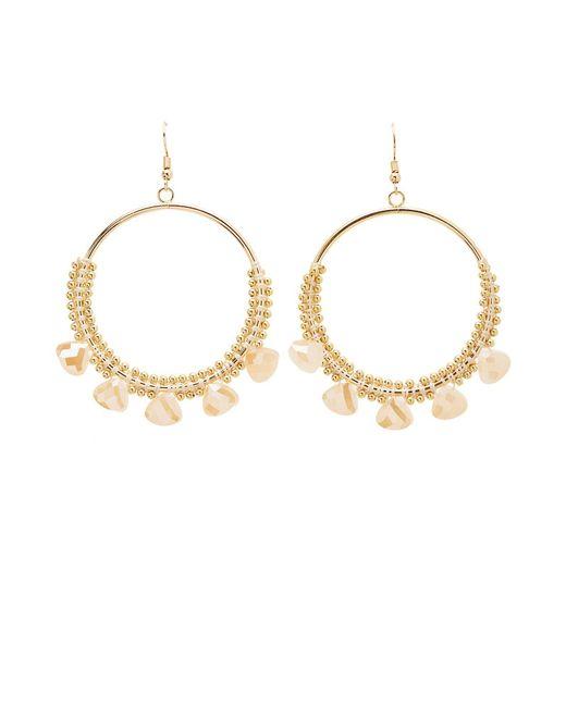 Charlotte Russe - Metallic Rhinestone Hoop Earrings - Lyst