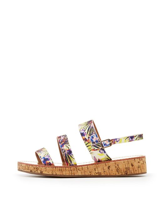 Charlotte Russe - Multicolor Qupid Three-piece Cork Sandals - Lyst