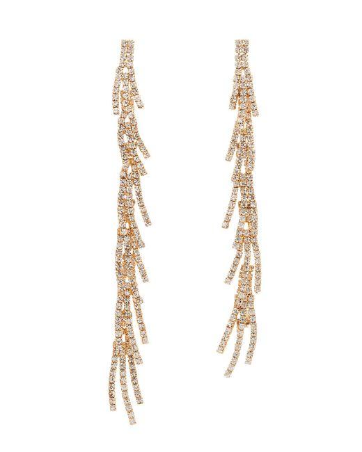 Charlotte Russe - Metallic Crystal Cascading Statement Earrings - Lyst