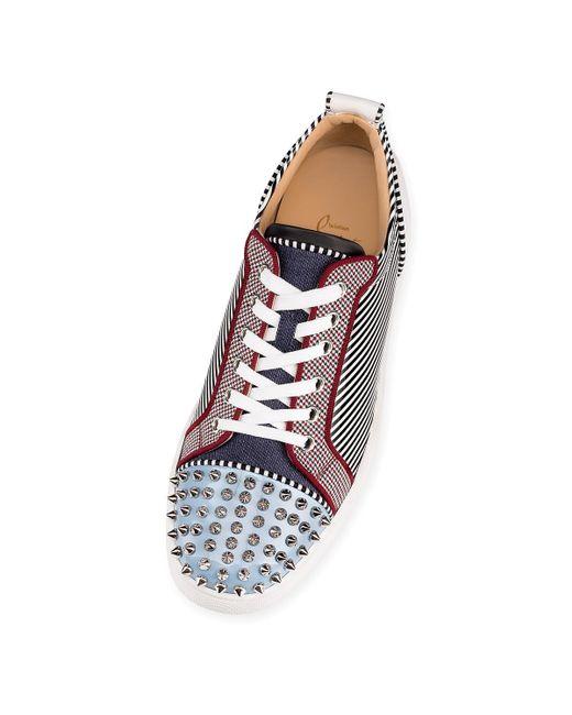 87ba99ac40a ... Christian Louboutin - Multicolor Louis Junior Spikes Orlato Flat for Men  - Lyst ...