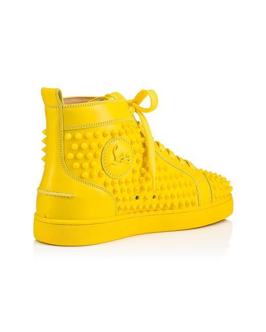 55b7bc45ccdd ... Lyst Christian Louboutin - Yellow Louis Men s Flat for Men ...