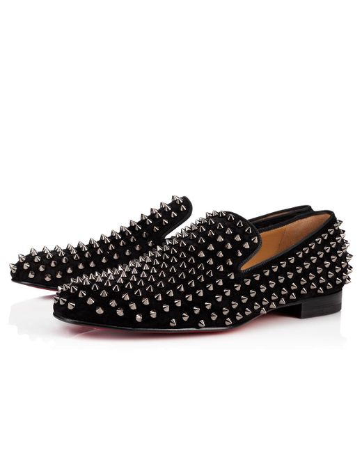 Christian Louboutin - Black Rollerboy Spikes Flat for Men - Lyst