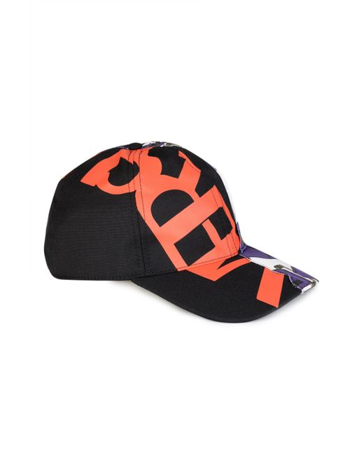Versace - Multicolor Red Printed Logo Baseball Cap for Men - Lyst ... 0daf4db008d0