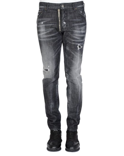 9667d66de59 DSquared² Coolguy Jeans Black in Black for Men - Lyst