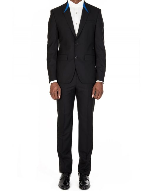 Givenchy - Black Contrast Collar Suit for Men - Lyst