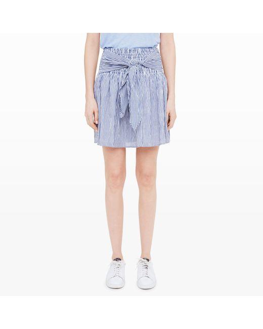 Club Monaco | Gray Devlan Seersucker Skirt | Lyst