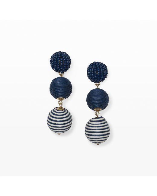 Club Monaco   Blue Bauble Stripe Earring   Lyst