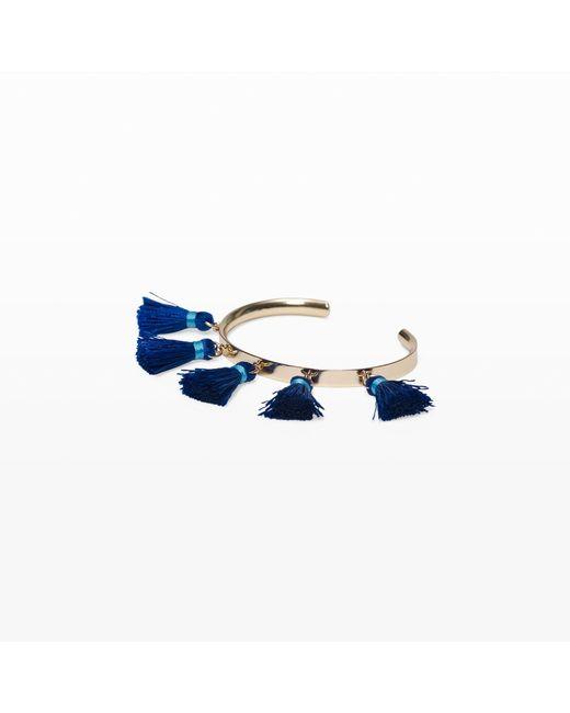 Club Monaco - Blue Fringe Cuff - Lyst