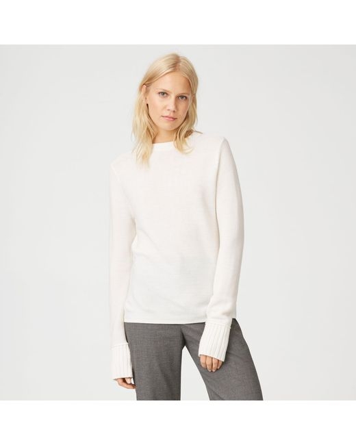 Club Monaco | White Tommie Merino Sweater | Lyst