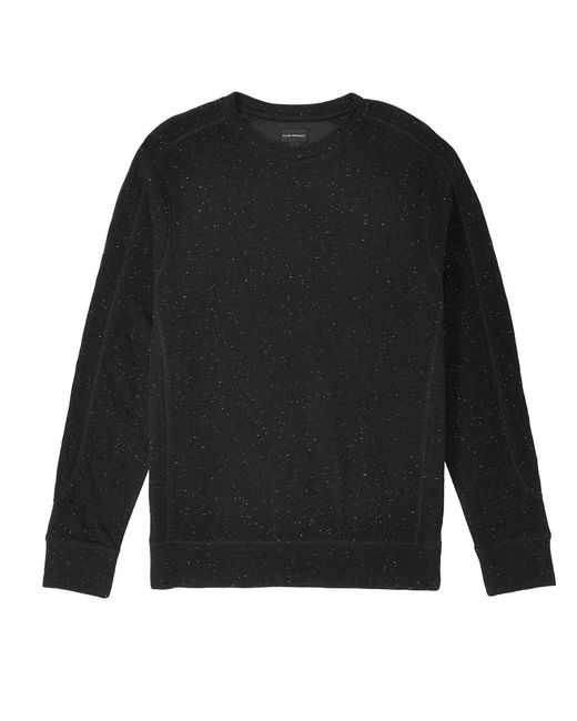 Club Monaco - Black Donegal Duofold Crew for Men - Lyst