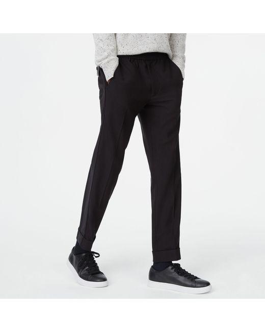 Club Monaco - Black Piped Elastic Pant for Men - Lyst