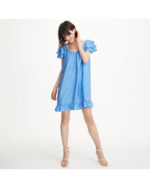 Club Monaco | Blue Vidorus Silk Dress | Lyst