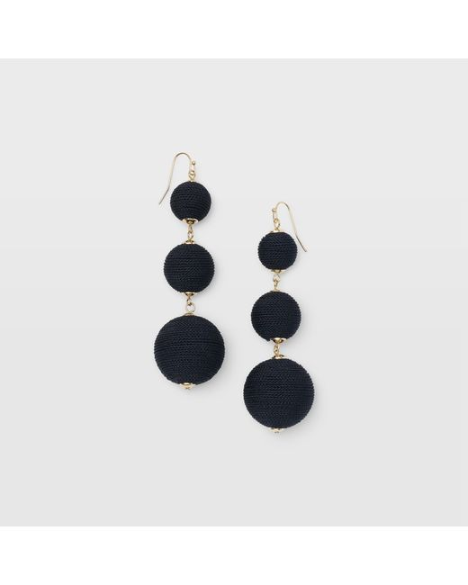 Club Monaco - Black Bauble Solid Earring - Lyst