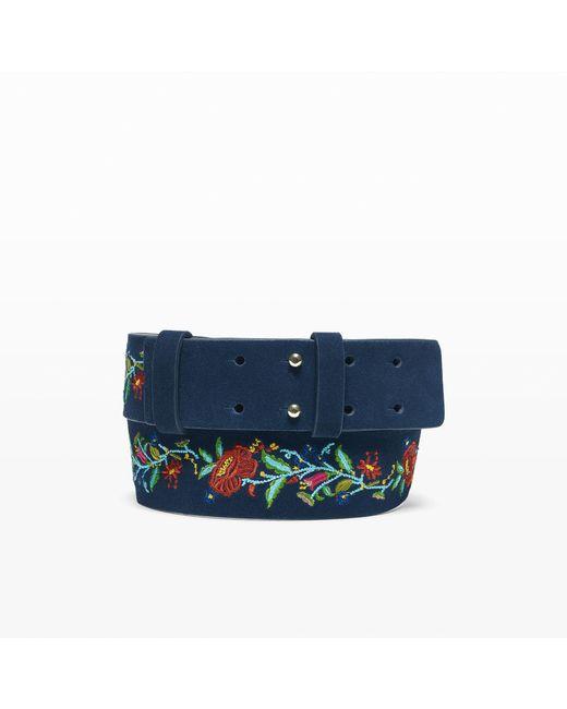Club Monaco | Blue Rosalind Belt | Lyst