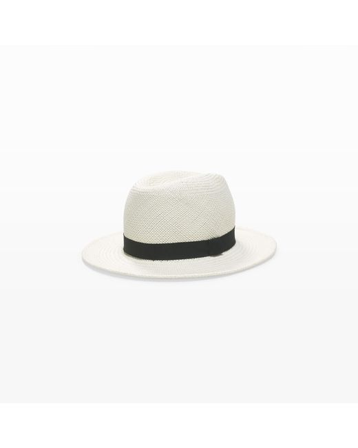 Club Monaco | White Real Panama Straw Hat for Men | Lyst