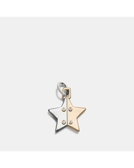 COACH - Metallic Two Tone Hinged Star Charm - Lyst