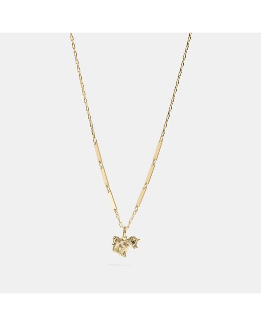 COACH - Metallic Uni Necklace - Lyst