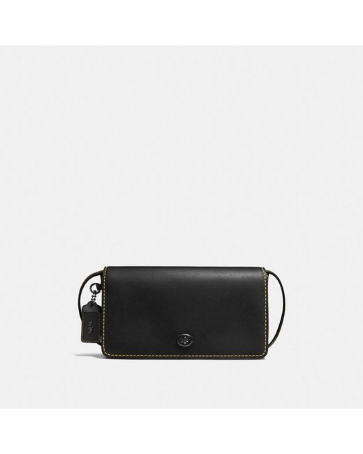 COACH - Black Dinky In Glovetanned Leather - Lyst