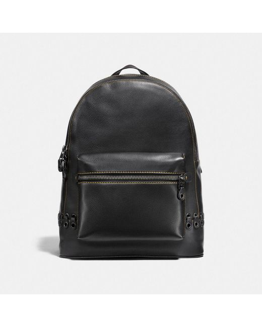 COACH | Black League Backpack With Link Detail | Lyst