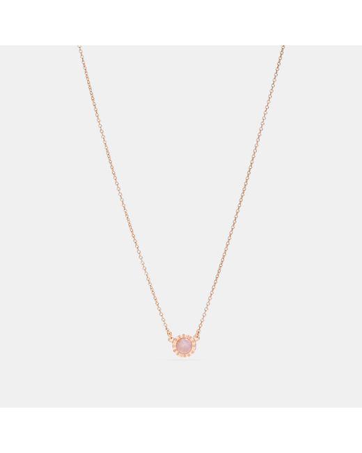 COACH - Multicolor Demi-fine Sunburst Stone Necklace - Lyst