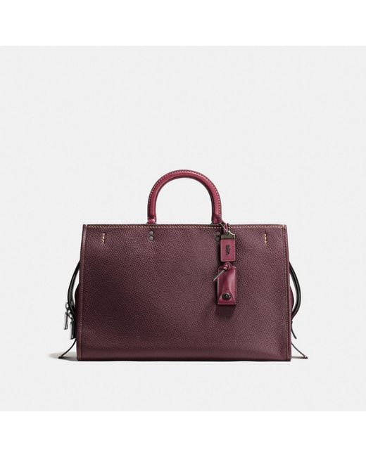 COACH | Black Rogue 39 In Glovetanned Pebble Leather | Lyst