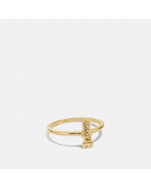 COACH | Metallic Mini 18k Gold Plated Rocket Ring | Lyst