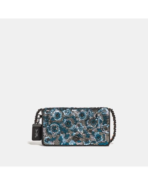 COACH - Multicolor Dinky With Leather Sequin - Lyst