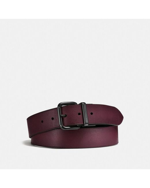 COACH | Multicolor Jeans Buckle Cut-to-size Reversible Burnished Leather Belt for Men | Lyst