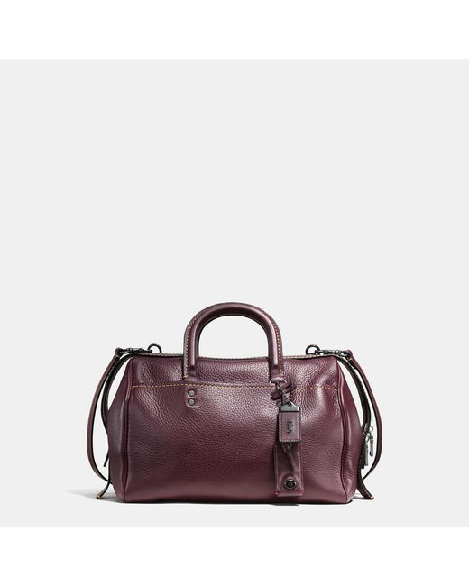 COACH   Multicolor Rogue Satchel In Glovetanned Pebble Leather   Lyst