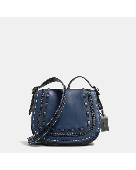 COACH | Black Saddle 23 In Glovetanned Leather With Western Whiplash Detail | Lyst
