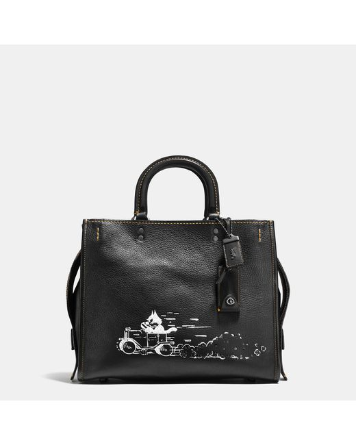 COACH | Black Felix Driving Rogue In Glovetanned Leather | Lyst