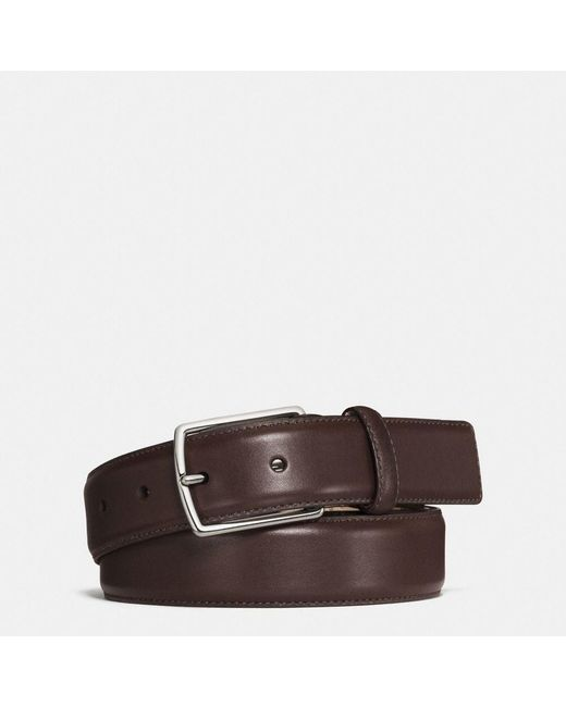 COACH | Brown Modern Harness Smooth Leather Belt for Men | Lyst