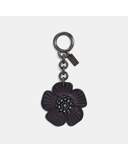 COACH - Black Tea Rose Bag Charm - Lyst