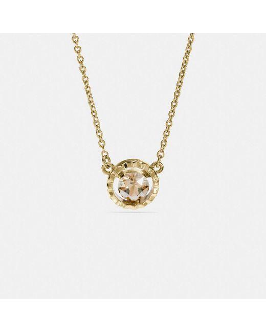 COACH | Metallic Sunburst Necklace | Lyst