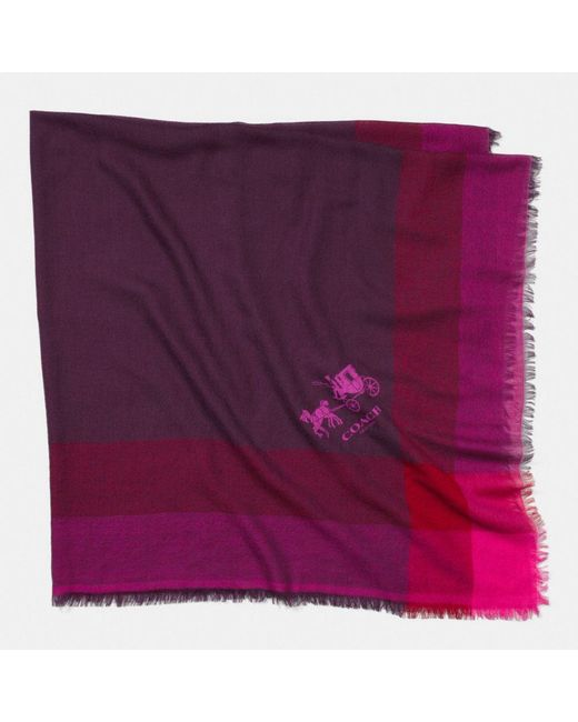 COACH | Purple Windowpane Challis | Lyst