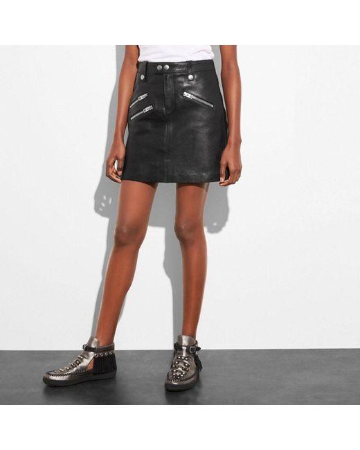 COACH | Black Multi Zip Skirt | Lyst