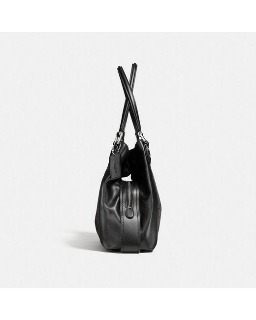 COACH Black Edie Shoulder Bag 31 In Signature Jacquard Lyst . 78c014446e15f