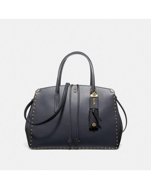 COACH - Blue Cooper Carryall With Border Rivets - Lyst
