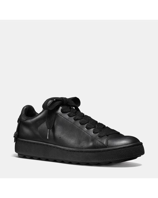 COACH | Black Leather Low Top Sneaker for Men | Lyst