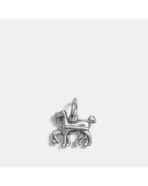COACH - Metallic Horse Charm - Lyst