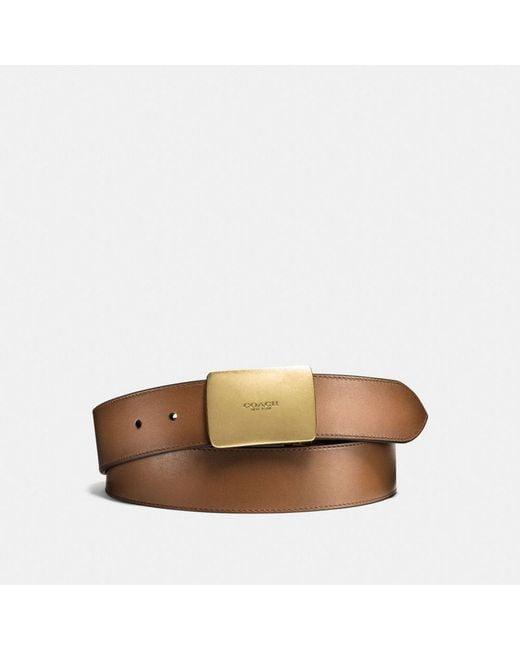 COACH - Multicolor Plaque Cut-to-size Reversible Belt for Men - Lyst