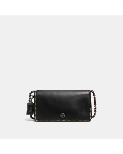 COACH - Black Dinky In Signature Glovetanned Leather - Lyst