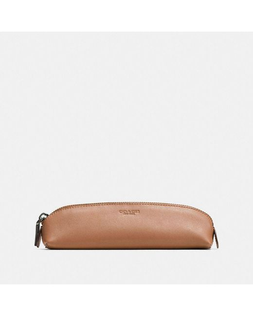COACH   Multicolor Pencil Case In Glovetanned Leather   Lyst