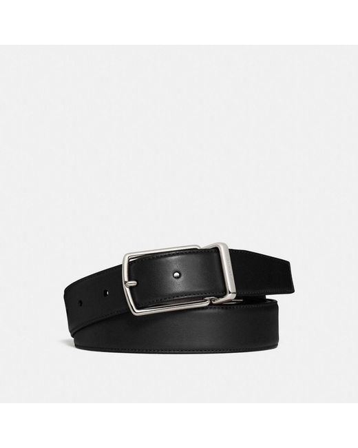 COACH - Black Modern Harness Cut-to-size Reversible Smooth Leather Belt for Men - Lyst