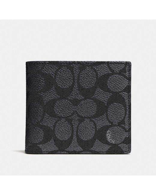 COACH - Multicolor Coin Wallet In Signature Canvas for Men - Lyst