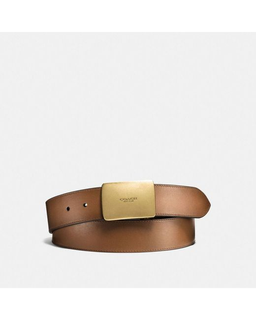COACH | Multicolor Plaque Cut-to-size Reversible Burnished Leather Belt for Men | Lyst