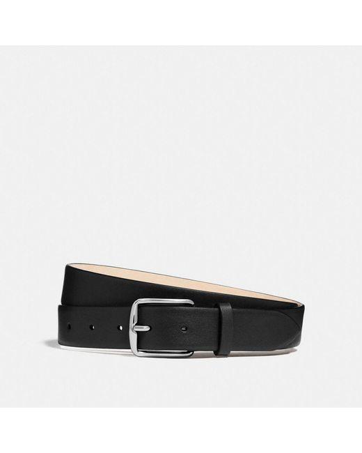 COACH - Black Dress Belt for Men - Lyst