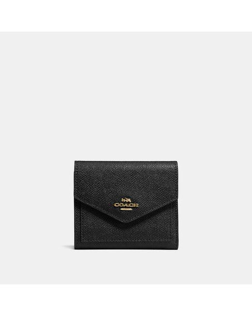 COACH - Black Small Wallet - Lyst
